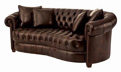 IL7746C Henredon leather chesterfield sofa 110609