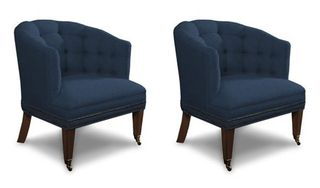 Cullen blue side chair drexel pair 112009