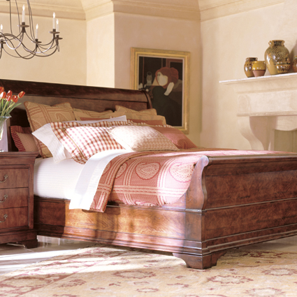 Henredon, Cavalier Collection, bedroom and sleigh bed