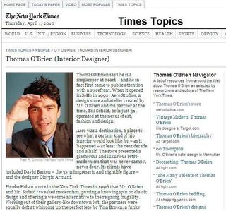 NY Times Thomas O'Brien