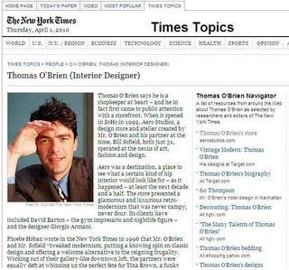 NY Times Thomas O'Brien