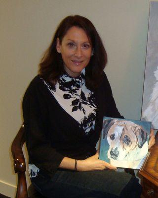Dana with small portrait