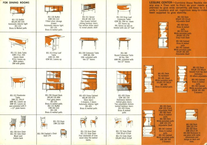 ... Drexel Declaration Catalog Tables Bookcases