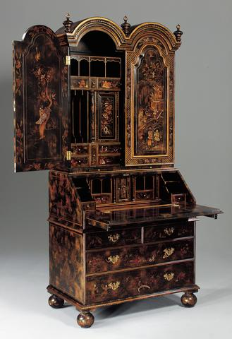 An Example Of Chinoiserie Is This Handsome Queen Anne Secretary With Raised Decoration It A Reproduction Original Early 18th Century Piece Owned