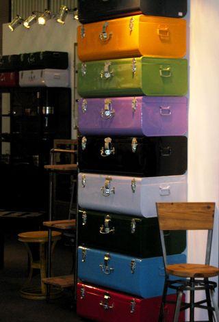 Paris suitcases