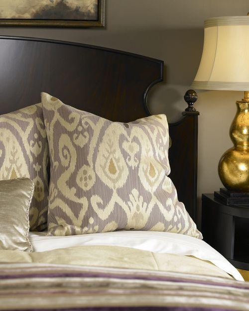 Ikat purple pillow close up