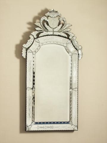 Venetian Mirrors At La Barge Maitland, Long Narrow Venetian Mirror