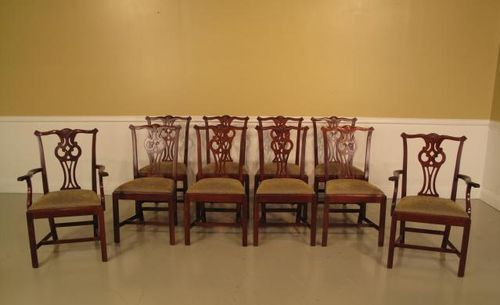 840-01 &-02 Chippendale Set of Chairs