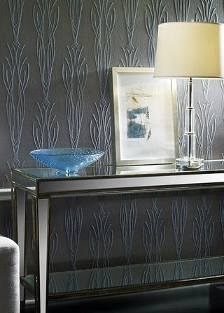 Fluted glass bead wallcover