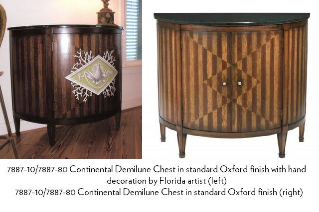 Continental Demilune Chests