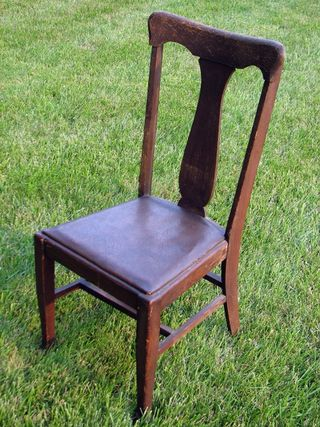 ChairBrownLeatherSeat-1