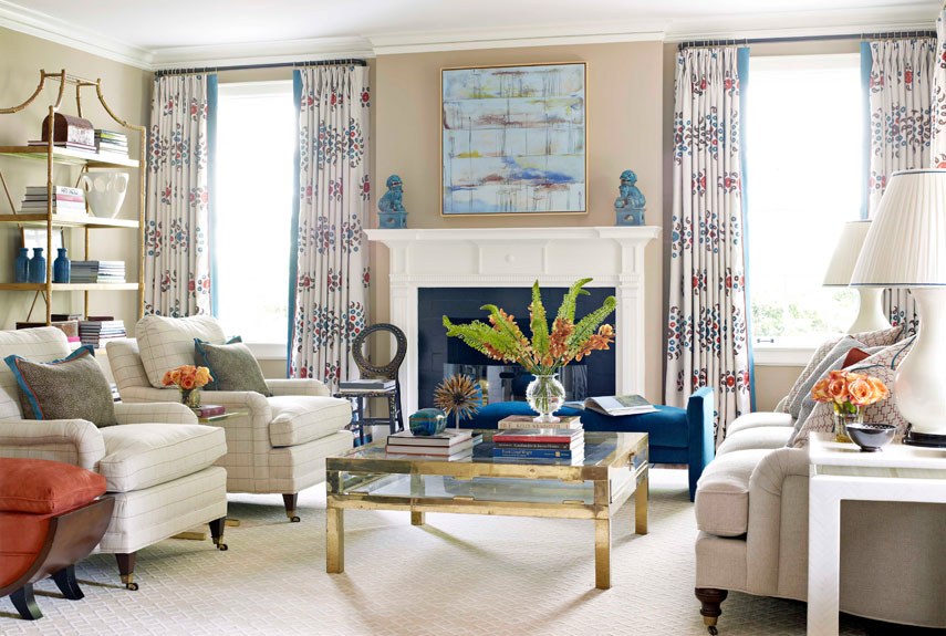 Perfect Hbx Modern Traditional Living Room Pattern Curtains 0212  Part 28