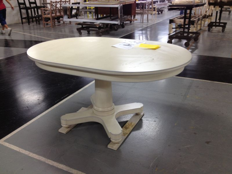 Hudson Table with Striping and Oval Top