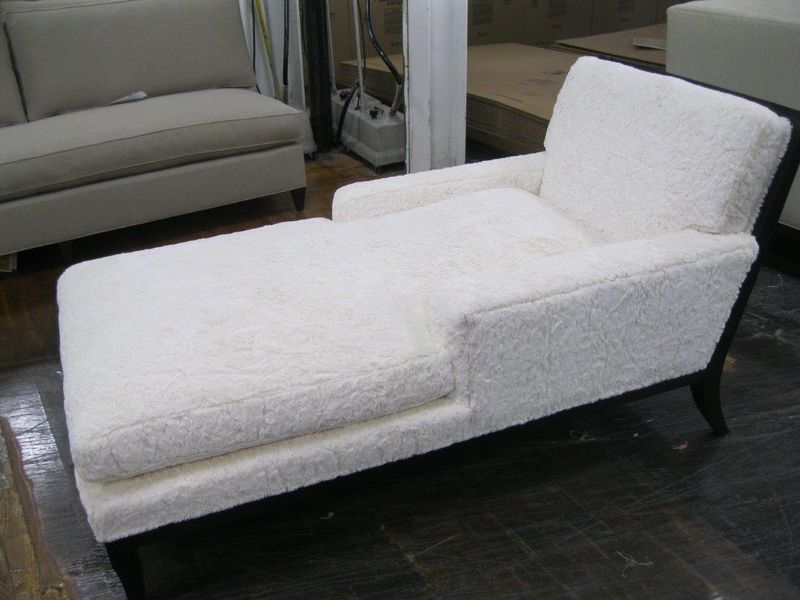 Curtis Chaise in Shearling